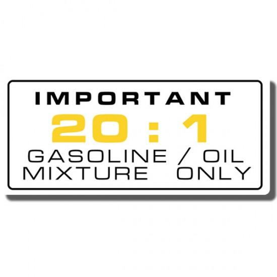 20:1 Fuel Ratio Decal ATC250R 81-84