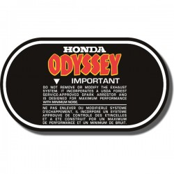 Air Box Lid Decal FL250 Odyssey 80