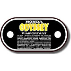 Air Box Lid Decal FL250 Odyssey 81-83