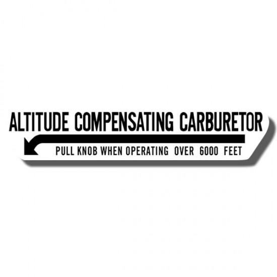 Altitude Compensating Carb Decal ATC90 73-78