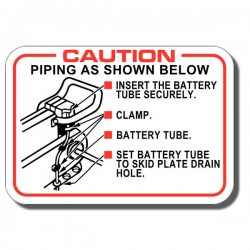 Battery Caution Label ATC125M