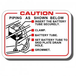 Battery Caution Label ATC200E | ATC200ES | ATC200M