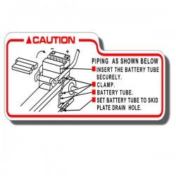 Battery Caution Label TRX125