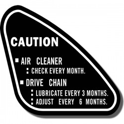 Caution Decal ATC70 73-74
