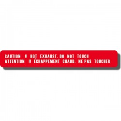 Caution Hot Exhaust Decal Suzuki ALT50
