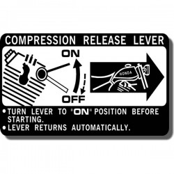 Compression Release Lever Decal ATC200E | ATC200ES | ATC200M