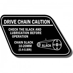 Drive Chain Decal ATC70 78-85