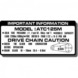 Drive Chain Decal ATC125M 84-85