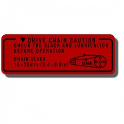 Drive Chain Decal TRX125 85-86