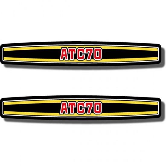 Rear Fender Decal ATC70 74