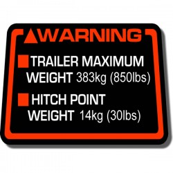 Hitch Warning Decal ATC250ES 85-87