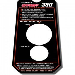 Ignition Panel Decal FL350 Odyssey 85