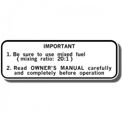 Important Info Decal Yamaha YTZ250 Tri Z 86
