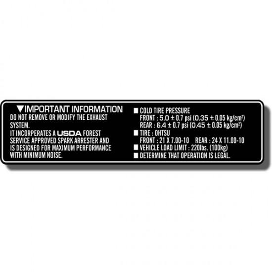 Important Info Decal FL350 Odyssey 85