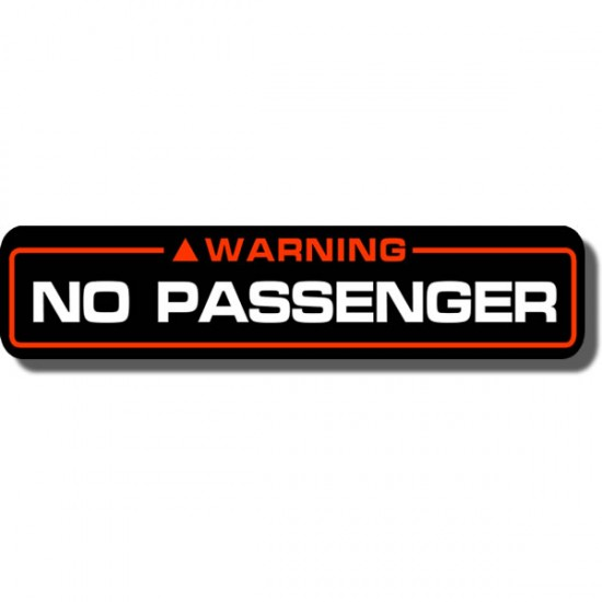 No Passenger Decal FL350 Odyssey 85