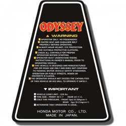 Panel Decal FL250 Odyssey 80