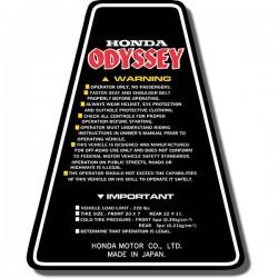 Panel Decal FL250 Odyssey 81-83