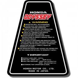 Panel Decal FL250 Odyssey 84