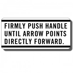 Push Handle Decal ATC90 70-73