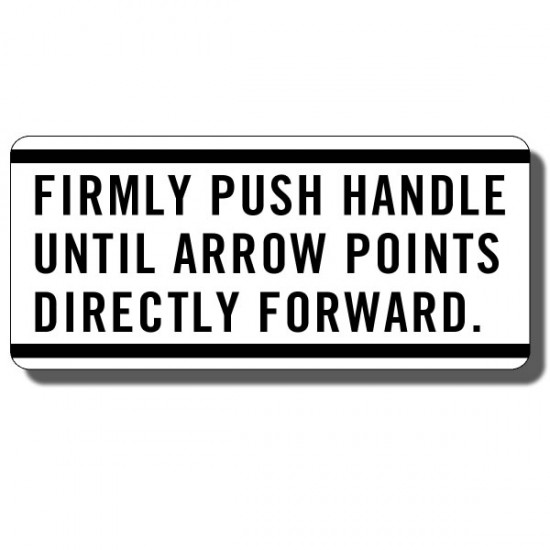 Push Handle Decal ATC90 70-73