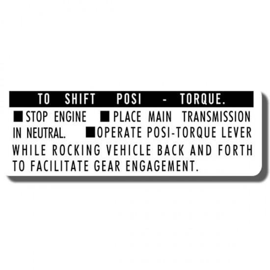 Posi Torque Decal US90 ATC90 70-73