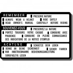 Remember Preserve Nature Decal ATC70 | ATC110 | ATC185S | ATC200/E/ES | ATC200S