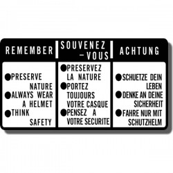 Remember Preserve Nature Decal ATC70 | ATC110 | ATC185/S | ATC200