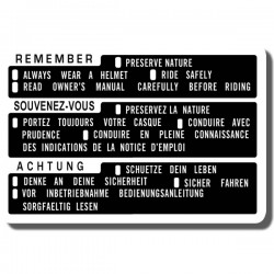Remember Preserve Nature Decal ATC200M |ATC250ES | ATC250SX | ATC350X