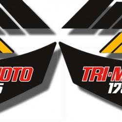 Side Decals Yamaha Tri Moto YTM175