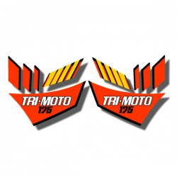 Side Decals Yamaha YTM175 Tri Moto 1983