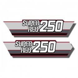 Rear Fender Side Decals  ATC250ES 85 Super Red