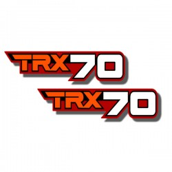 Rear Fender Side Decals  TRX70 86