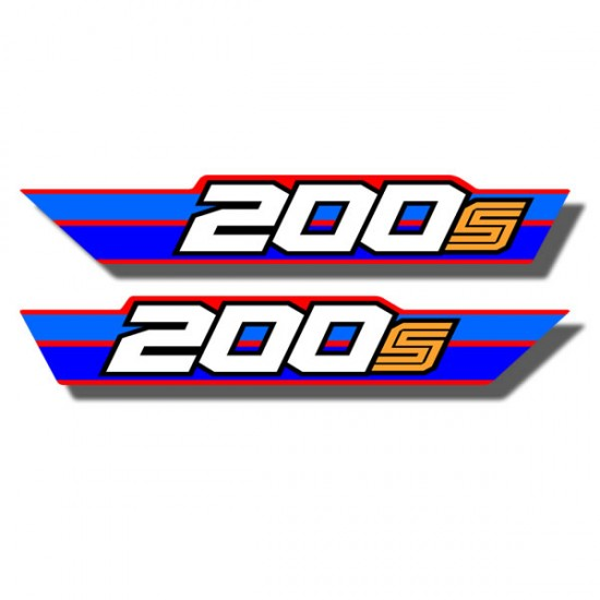 Rear Fender Side Decals ATC200S 84