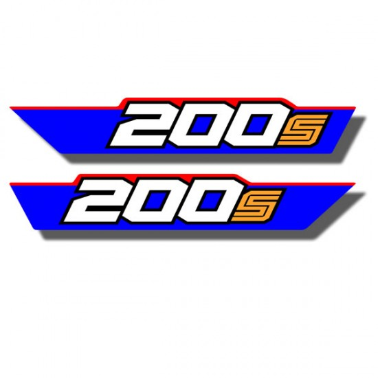 Rear Fender Side Decals ATC200S 85