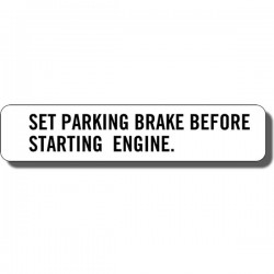 Set Parking Brake Decal Suzuki ALT50