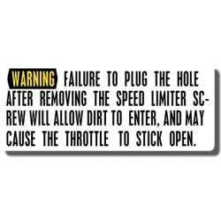 Throttle Warning Decal ATC70 78-85 | ATC110 '85