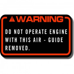 Warning Air Guide Decal FL350 Odyssey 85