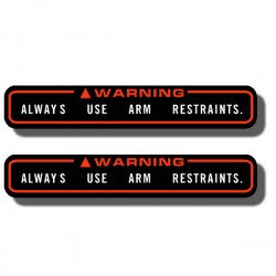 Warning Arm Restraints Decal FL350 Odyssey 85