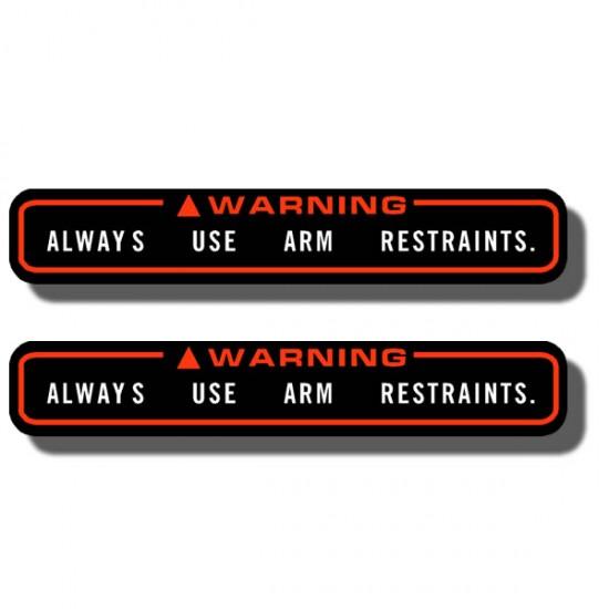 Warning Arm Restraints Decal FL350 Odyssey 85