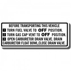 Warning Decal Z50 76