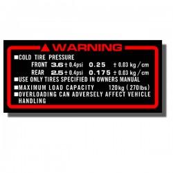 Warning Decal ATC200X 86