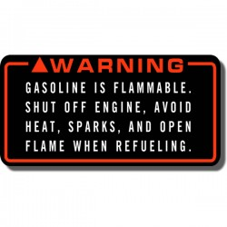 Warning Gasoline Decal FL350 Odyssey 85