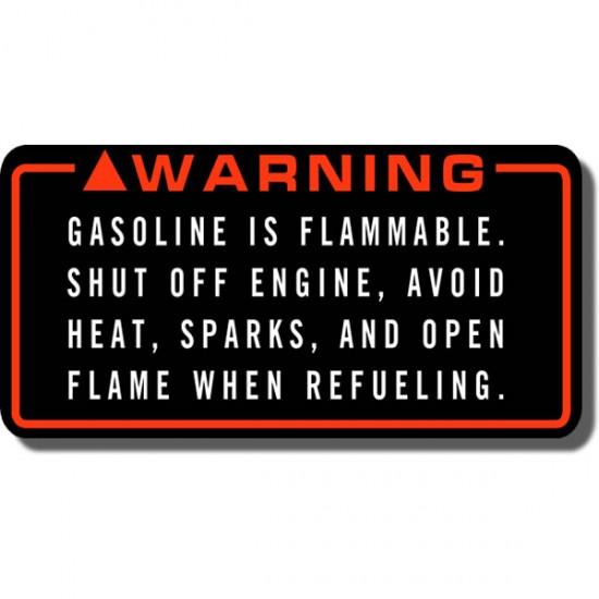 Warning Gasoline Decal FL350 Odyssey 85