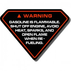 Warning Gas Decal FL250 Odyssey 77-84