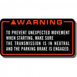 Warning Motion Decal FL350 Odyssey 85