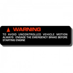 Warning Motion Decal FL250 Odyssey 77-84