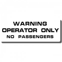Warning Operator Decal ATC70 78