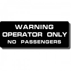 Warning Operator Decal ATC70 | ATC110 | ATC125M | ATC185/S | ATC200 | ATC200E/ES | ATC200M/S | ATC200X | ATC250R