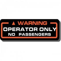 Warning Operator Decal ATC70 | ATC110 | ATC125M | ATC200M/S | ATC200X | ATC250ES | ATC250SX | ATC250R